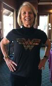 Victoria Travis wearing 2017 Wonder Woman T-shirt